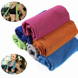 sports ice bag 2019 - Magic Cold Towel Exercise Fitness Sweat Summer Ice Towel Outdoor Sports Ice Cool Towel Hypothermia Cooling Opp Bag Pack