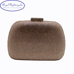 $enCountryForm.capitalKeyWord Australia - RN Wholesale Womens Crystal Box Hard Case Evening Clutch Bag and Evening Bags for Party Prom Black Purple Champagne #89060
