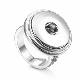 $enCountryForm.capitalKeyWord Australia - Hot Sale 010 Fashion Crystal Metal Adjustable Ring Ginger Fit 18mm Snap Button Rings Interchangeable Jewelry Charm Rings For Women Gift