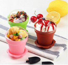 Cakes for kids bake online shopping - Flower Pot Cake Cups And Spoon Set Ice Cream ecoration For Wedding Kids Birthday Party Supplies Baking Pastry Tools