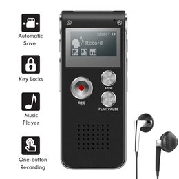 N28 Rechargeable Digital Voice Recorder 8GB Mini Multifunctional HD Intelligent Noise Reduction MP3 Player Digital Recorder on Sale