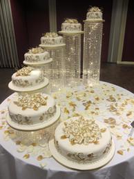 $enCountryForm.capitalKeyWord Australia - Free shipping wedding crystal transparent acrylic Cake Stand wedding centerpiece Cake bracket Cake Accessory Crystal Party Crystal