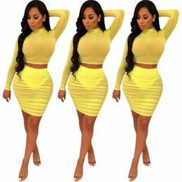 8d8681a622 Yellow Waist Long Skirts Australia - Latest Style Night Out Club Wear  Fashion Woman Yellow Sheer