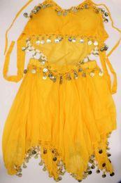 costume tailleur jupe de danse du ventre pour les femmes, costume de danse sexy de mode en deux couleurs en option 120 ensembles / pièce en Solde