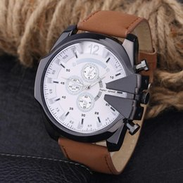 $enCountryForm.capitalKeyWord Australia - New V6 Men's Business Wrist Watch Belt large dial Strap Gold Case Analog Sport Wristwatch Quartz Man Analog Luxury Sale