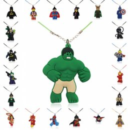 $enCountryForm.capitalKeyWord UK - 1PCS PVC Necklace Cartoon Figure Hulk Chain Pendant Cute Charms Choker Fashion Jewelry