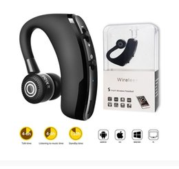 bluetooth headset control Canada - V9 Handsfree Wireless Bluetooth Earphones CSR 4.1 Noise Control Business Wireless Bluetooth Headset Voice Control with Mic for Driver Sport