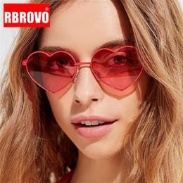Heart eyeglasses online shopping - RBROVO New Arrival Heart Ocean Lens Sunglasses Women Vintage Metal Eyeglasses Mirror Retro Oculos De Sol Feminino UV400