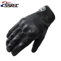 Gloves Leather Fingers Off Australia - Touch Screen Moto guantes luva leather racing motorcycle glove full finger glove winter man female off road motocross gloves