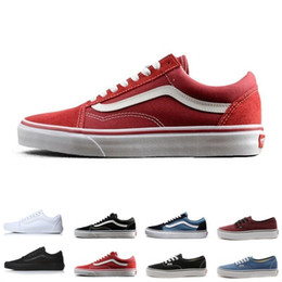 6b4aded448 Brand Vans Old Skool For Men Women Casual Shoes Canvas Sneakers Black White  Red Blue Fashion Cheap Sport Skateboard Shoe Size 4.5-10
