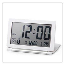 Large Lcd Clocks Australia - Electronic Alarm Clock High Quality Multi Function Silent LCD Digital Large Screen Travel Desk Alarm Clock