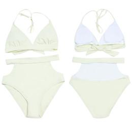 Ms Swimsuits Australia - 2019 Ms. split swimsuit, solid color aura, open swimsuit sexy swimsuit wholesale, new 544 and American bikini swim wear swimming logo 3