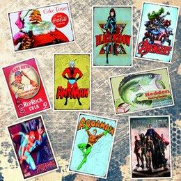 $enCountryForm.capitalKeyWord Australia - Black Widow Aquaman Justice League Red Rock Cola Spider Man Tin Sign Vintage Metal Signs Home Bar Cafe Wall Garage Decor Poster Art