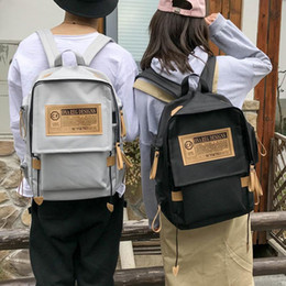 Korean Canvas College Fashion Backpack Unisex Student School Couple Bag For  Women Men Outdoor Travel Bags Backpacks Rucksack b3cca02440793