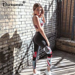 $enCountryForm.capitalKeyWord Canada - Duckwaver Women's fitness gym Sport set sports suit lady girl Running suit elastic pants Top workout campaign running leggings
