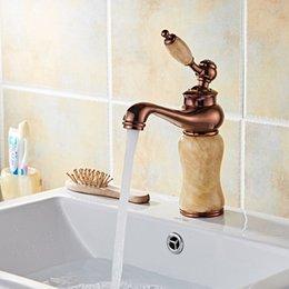 Grifo Grifería Cobre Lavabo Europeo Lavabo De Baño De Un Solo Orificio Lavabo De Oro Bajo El Lavabo De Jade Mármol Grifo De Agua Fría Y Caliente Suministros de limpieza y saneamiento