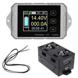 Car Voltmeter Ammeter NZ - Ammeter Voltmeter Watt Hour User-friendly Tool Wireless Coulometer Electrombile Battery Capacity Car LCD Display Test Meter