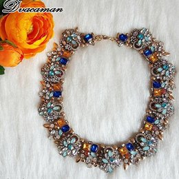 Christmas Jewelry Sets Australia - Dvacaman Fashion ZA Multi-Color Crystal Statement Necklace Women Maxi Choker Necklace 3pcs Set Jewelry Wedding Party Christmas