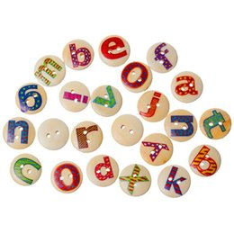 $enCountryForm.capitalKeyWord Australia - natural color 2 Holes Wood Wooden Buttons Alphabet Letter A to Z Printed 15mm Pack of 200pcs