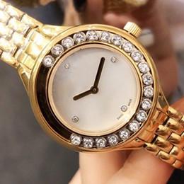 $enCountryForm.capitalKeyWord Australia - hot Luxury ladies diamond watch classic happy watch gold round dial with rotating diamond luxury atmosphere