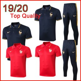 team kits Australia - Thai quality National team 2 stars soccer tracksuit 2019 2020 MBAPPE short sleeve shirt Griezmann Giroud POGBA football training suit kit