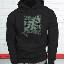 Fishing pullovers online shopping - Salmon Fishing Sport Tuna Hook Fisher Vacation Relaxing Mens BlArriverrive Hoodie