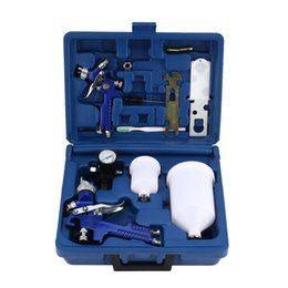 $enCountryForm.capitalKeyWord Australia - HVLP Spray Paint Air Gravity Feed Spray Gun Kit W 2 Car Primer With 0.8MM 1.4MM Nozzles Full Complete Car Parts Set