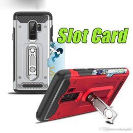 Card Inserts NZ - Armor bracket case for Samsung S9 Hummer Insert Card Belt Bracket 2 in 1 Mobile Phone Case S9Plus Insert Card Mobile Phone Cover