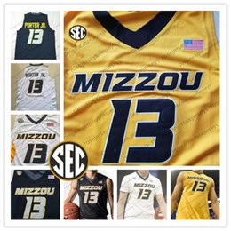 numbered basketball jerseys Australia - Custom Mizzou Missouri Tigers College Basketball black white yellow Any Name Number 15 Geist 23 Jeremiah Tilmon 24 Kevin Puryear Jerseys S