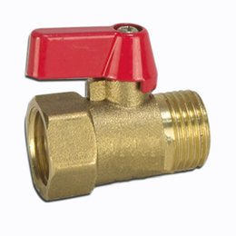 "Brass Standard NZ - 2019 Free shipping Size-1 2"" DN15 Brass Plumbing Pipe Fittings Inside and outside whorl ball valve Hot and cold water valve gasoline"