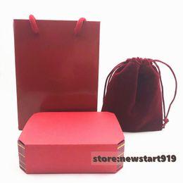 Love Bracelet Screws Australia - Love screw red bracelet box packing set with pager bag and velvet bag