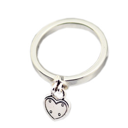 Chinese  New Authentic 925 Sterling Silver Ring Heart-shaped Padlock Love Heart Lock Rings For Women Gift Fine Vanlentine's Day Europe Jewelry manufacturers