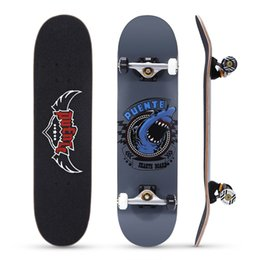 ad4b1738bfd PUENTE 608 ABEC - 9 Adult Four-wheel Skate Board Double Snubby Maple Skateboard  Long Board 4 Colors