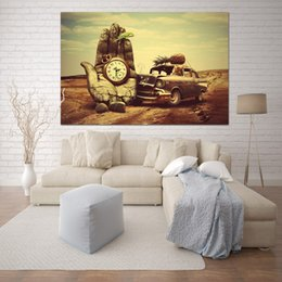 dali arts NZ - Wall Decor Classic Art Salvador Dali Hand Watch Car Pineapple Parrot Canvas Art Painting Prints Poster for Living Room