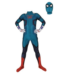spider man cosplay zentai UK - High Quality Superhero Spider Man Cosplay Costume Spiderman Costume Suit cosplay Costume
