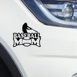 Personalized reflective car stickers online shopping - Baseball Car Stickers Letter Print Baseball Mom Sticker Car Window Crack Decals Car Exterior Decoration Reflective stickers colors GGA1905