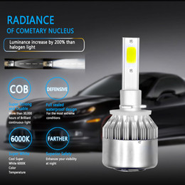 cob chips UK - ECAHAYAKU 6Set 72W 7600LM COB Chip C6 LED Headlight H1 H3 H4 H7 H8 H9 H11 9005 9006 9012 Car LED Headlight Bulb