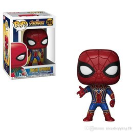 Mini Figures Superman UK - Bravo Discout now Sales products New arrival xmas gift Funko PopIron Spiderman & superman Vinyl Action Figure With Box Gift Toy Good Quality