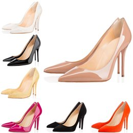$enCountryForm.capitalKeyWord Australia - New Fashion designer women shoes red bottom high heels 8cm 10cm 12cm Nude black white Orange Leather Pointed Toes Pumps Dress shoes35-42