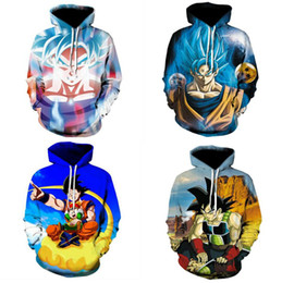 sweatshirt hoodies Canada - 4 Colour S-5XL Dragon Ball Z Super Saiyan Goku Men Women Anime Pullover Hoodie Sweatshirt Long Sleeve Floral Casual Tops