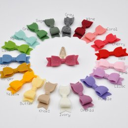 Wholesale 200pcs Mini Felt Bow Headband Handmade Bow Clips Soft Nylon Hair Band For Infants Baby Hair Accessory