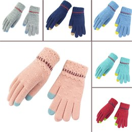 army gloves 2019 - handschoenen winter Women Men Multi-function Knitted Screen Gloves Soft Warm Mitten handschoenen zonder vingers cheap ar