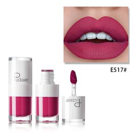 Discount nude lips - Pudaier matte liquid lipstick 16 colors 3g sexy red nude brown lipgloss pigment waterproof long lasting velvet lip tint