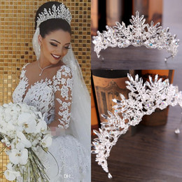 Wholesale Cheap Silver Bling Tiaras Crowns Wedding Hair Jewelry Crown Crystal Fashion Evening Prom Party Dresses Accessories Headpieces