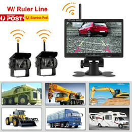 "inch meters Canada - 9-36V 7"" Monitor Camera Rear View Kit 2.4G Display Monitor Night Vision Reversing 50 meters Long Transmission range Car"