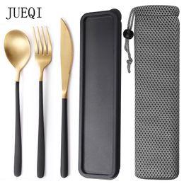 $enCountryForm.capitalKeyWord Australia - JueQi Camping Tableware Set Cutlery Stainless Steel 304 Utensils Kitchen Dinnerware include Knife Fork TeaSpoons D19011702