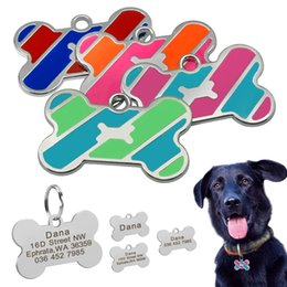 $enCountryForm.capitalKeyWord NZ - Dog Tag Custom Pet Bone Name Tags Stainless Steel Dog Collar Accessories Anti-lost Puppy Cat Nameplate Tag Personalized Engraved