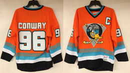 charlie conway ducks jersey Australia - Customize Charlie Conway Mighty Ducks #96 Movie Hockey Jersey Embroidery Stitched Customize any number and name Jerseys