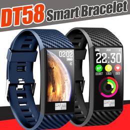 Portuguese Bracelets Australia - DT58 thin smart bracelet women Band Heart Rate Color Screen Wristband watches Waterproof Activity Fitness tracker smartwatch