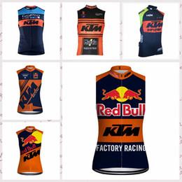 $enCountryForm.capitalKeyWord Canada - KTM team Cycling Sleeveless jersey Vest Breathable Quick Dry Polyester Tops Outdoor sportswear summer clothing mens Q52722